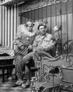 Clarabell the Clown (Bob Keeshan) with Buffalo Bob