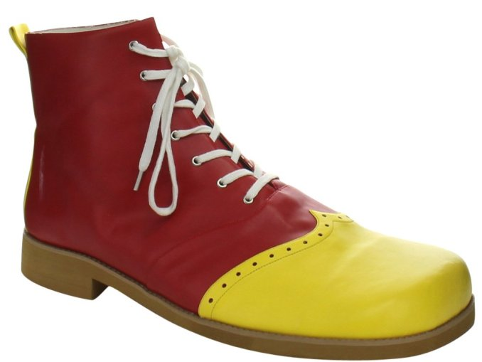deluxe shoes for the adult Bozo the Clown costume