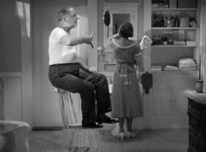"""W.C. Fields shaving in """"It's a Gift"""""""