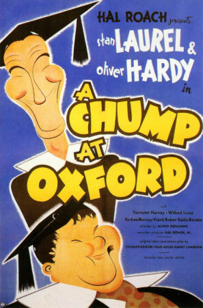 A Chump at Oxford (1940) starring Stan Laurel, Oliver Hardy, Forrester Harvey, Charlie Hall, Peter Cushing