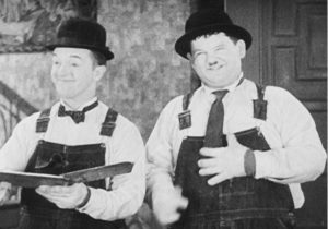 Stan and Ollie in The Music Box
