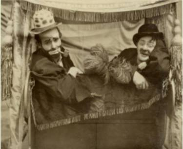 Emmett Kelly Sr. (left) and Otto Griebing (right) in 1933