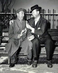 Red Skelton and Allen Jenkins in The Cop and The Anthem, 1958