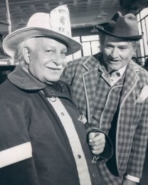 Arthur Fiedler and Red Skelton (as Clem Kadiddlehopper) on The Red Skelton Show in 1969