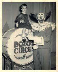 Bozo and young child at Bozo's Circus