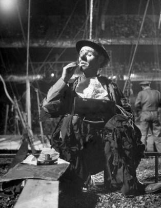 Emmett Kelly Sr. as Weary Willy in 1946