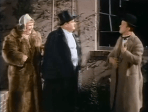 Our Wife - Dulcy, Oliver Hardy, and Stan Laurel are eloping
