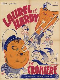 French movie poster for Saps at Sea