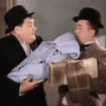 Their First Mistake - Oliver Hardy and Stan Laurel return home with the baby