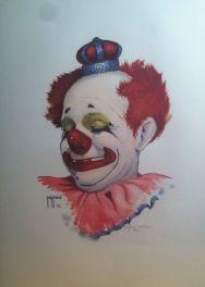 Painting of Felix Adler by renowned clown artist Jim Howle