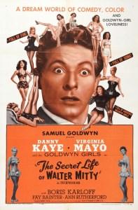 The Secret Life of Walter Mitty, starring Danny Kaye, Virginia Mayo, Boris Karloff