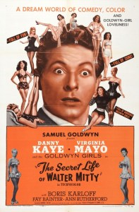 The Secret Life of Walter Mitty, starring Danny Kaye, Virginia Mayo, Boris Karloff