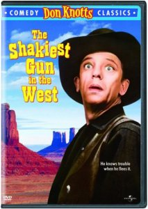 The Shakiest Gun in the West (1968) starring Don Knotts, Barbara Rhoades