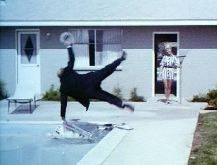 The Scribe - Buster Keaton falls into the pool