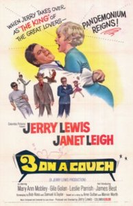 Three on a Couch  (1966) starring Jerry Lewis, Janet Leigh, James Best