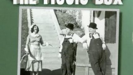 The Music Box (1932), starring Stan Laurel, Oliver Hardy, Billy Gilbert