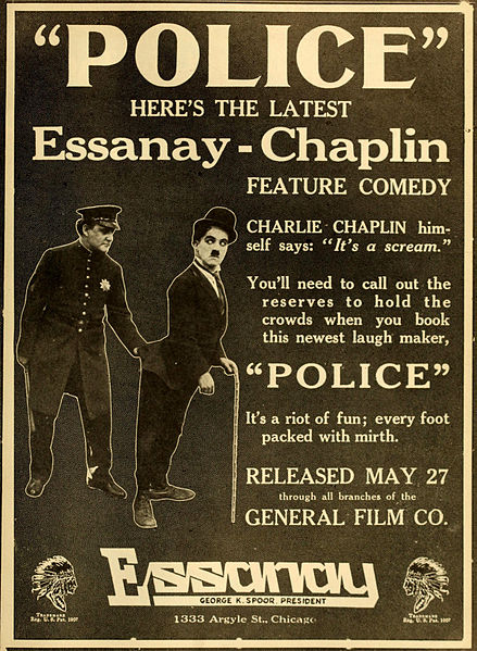 Police (1916) starring Charlie Chaplin, Edna Purviance