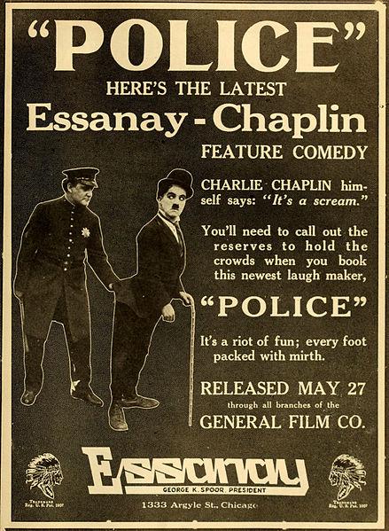 Police (1916) starring Charlie Chaplin, Edna Purviance