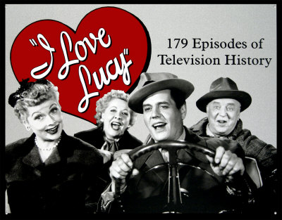 "Ricky, Lucy, Fred and Ethel embarking on their trip to California, from the I Love Lucy episode ""California, Here We Come!"", part of the fourth season's big 'trip to California' story arc where Ricky goes to Hollywood to star in a movie, Don Juan."