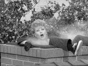 Lucille Ball in the chimney on The Lucy Show