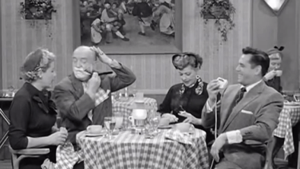Equal Rights - I Love Lucy - Fred and Ricky shaving at the restaurant table
