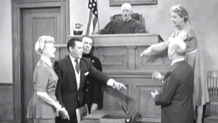 The Courtroom - I Love Lucy