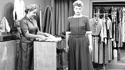 Ethel and Lucy in their new dress shop - The Girls Go Into Business - I Love Lucy