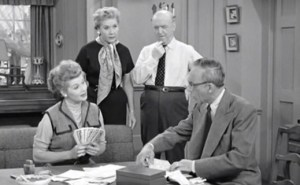 The Business Manager - Lucille Ball with her business manager, Charles Lane, and Vivian Vance and William Frawley look on