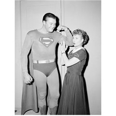 Lucille Ball as Lucy Ricardo on I Love Lucy with Superman Played by George Reeves