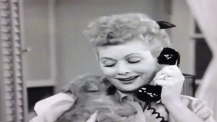 Little Ricky gets a puppy - Lucy on the phone, trying to return the adorable puppy