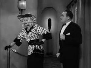 Lucy in disguise at the Tropicana, scamming Gale Gordon, in the I Love Lucy episode, Ricky Asks for a Raise