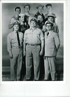 McHale's Navy cast photo - Tim Conway, Ernest Borgnine, Joe Flynn in the front row