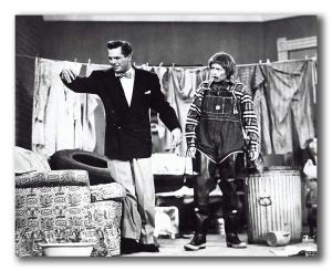 Ricky dealing with his messy apartment - and hillbilly Lucy! in Men are Messy