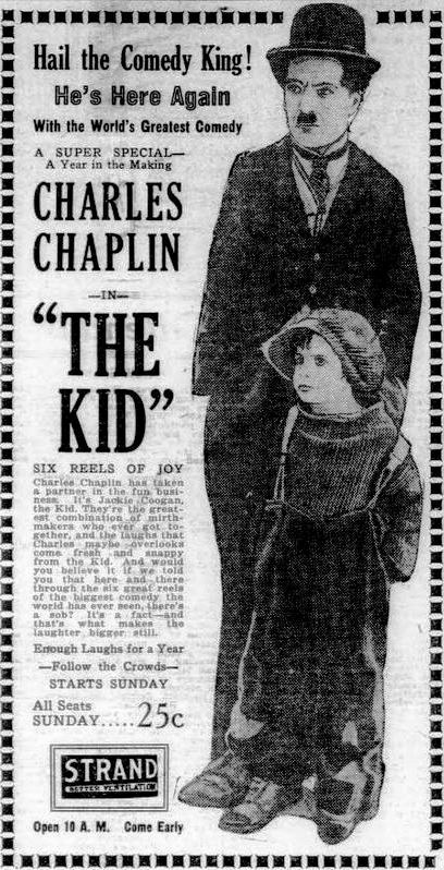 Charlie Chaplin - The Kid advertisement