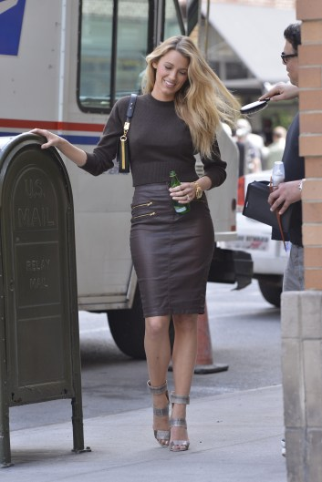 Blake Lively photoshoot in the West Village