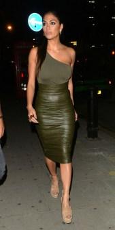 Nicole Scherzinger - Leather Pencil Skirt
