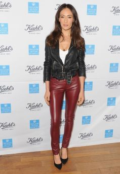 Maggie Q - Leather Pants