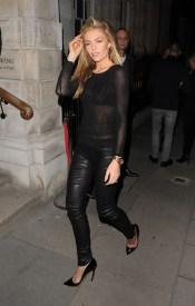 Abigail Clancy - Leather Tight Pants