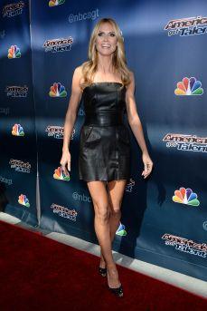Heidi Klum - Leather Mini Dress