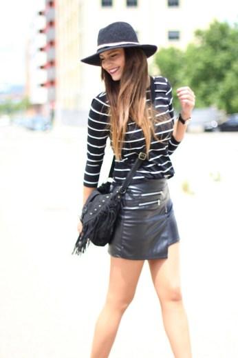 Lady Framboise - Leather Mini Skirt