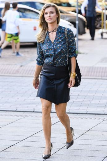Joanna Krupa - Leather Mini Skirt
