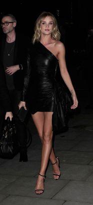 Rosie Huntington Whiteley - Leather Mini Dress
