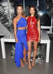 Shanina Shaik - Leather Mini Dress (11)