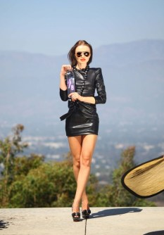 Natalia Proza - Leather Mini Dress