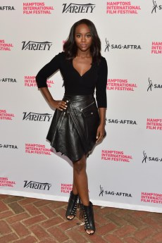 Aja Naomi King - Leather Mini Skirt