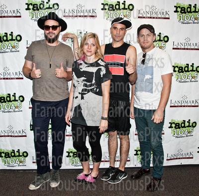 FamousPix: 07/21/2015 - Neon Trees Visit Radio 1045 &emdash; Neon Trees