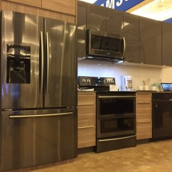 Black Stainless Steel Kitchen Dark Gray Cabinets The Tater Patch Home Appliance And Mattress Tips