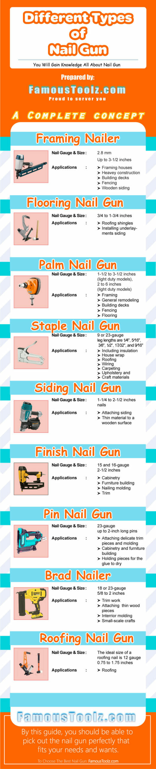 Infographic Different Types of Nail Guns