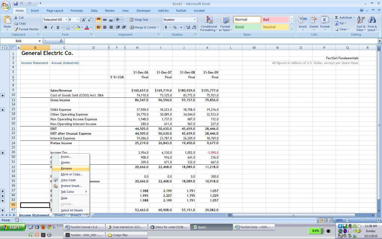 Beautiful Printables Financial Statement Worksheet
