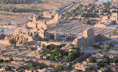 Aerial View of Karnak Temple